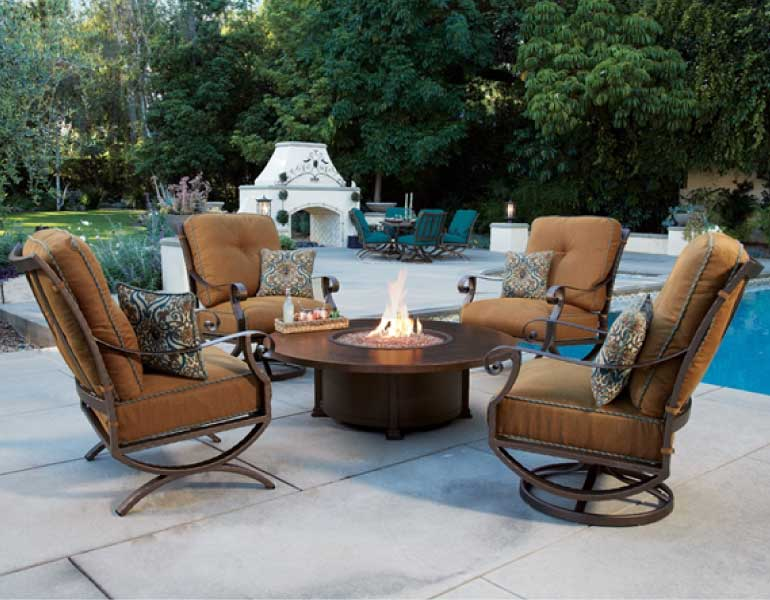 gorgeous and durable outdoor furniture at our denver area stores to go with your outdoor kitchen!