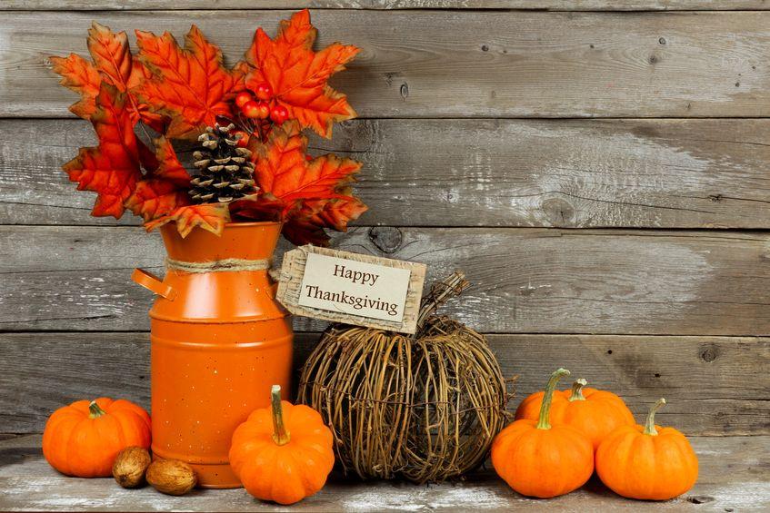 November outdoor decorations