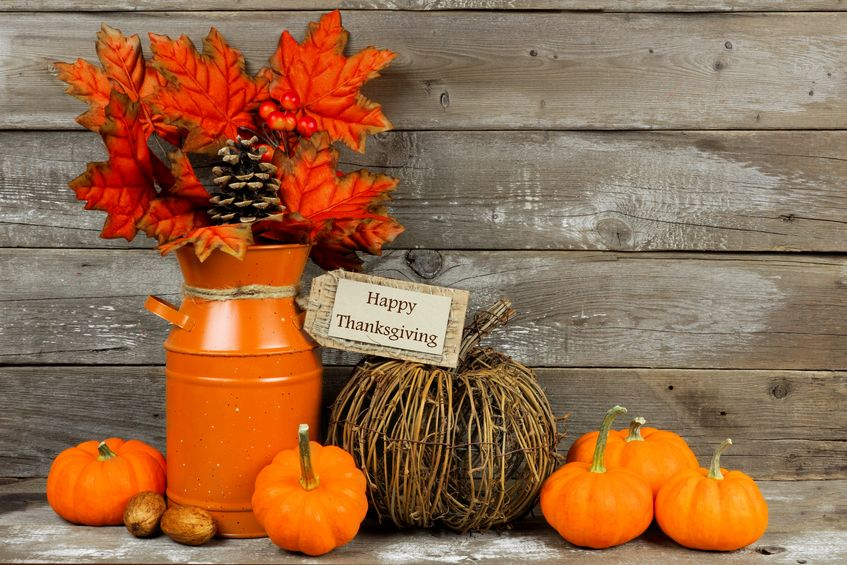 November outdoor decorations
