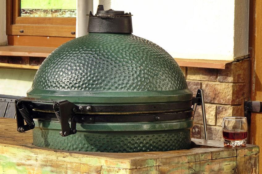 Green Ceramic BBQ Grill