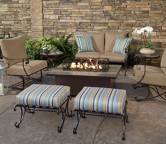 Lehrer Fireplace and Patio - outdoor patio furniture with Sunbrella fabrics